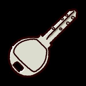 鍵のイラスト(ディンプルキー)