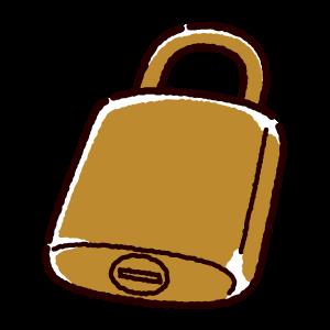 南京錠のイラスト(3カット×2カラー)