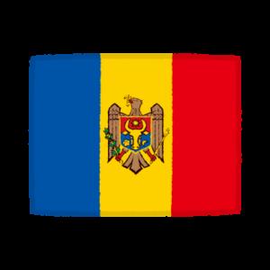 国旗のイラスト(モルドバ共和国)