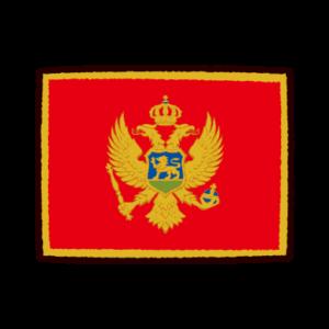 国旗のイラスト(モンテネグロ)