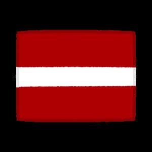 国旗のイラスト(ラトビア共和国)