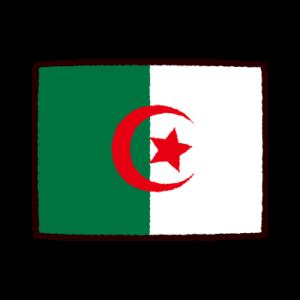国旗のイラスト(アルジェリア民主人民共和国)