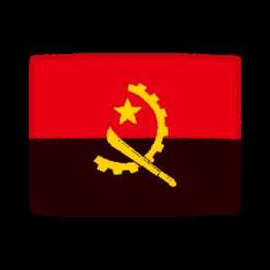 国旗のイラスト(アンゴラ共和国)