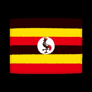 国旗のイラスト(ウガンダ共和国)