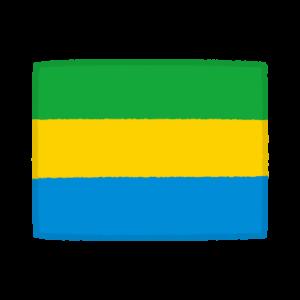 国旗のイラスト(ガボン共和国)