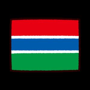 国旗のイラスト(ガンビア共和国)