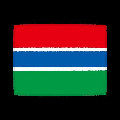 国旗のイラスト(ガンビア共和国)(2カット)