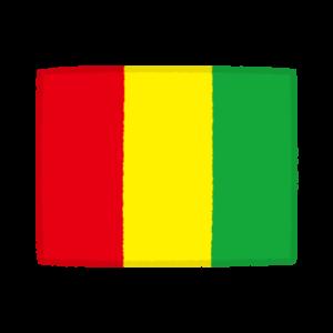 国旗のイラスト(ギニア共和国)