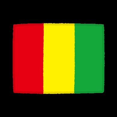 国旗のイラスト(ギニア共和国)(2カット)