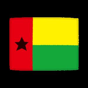国旗のイラスト(ギニアビサウ共和国)