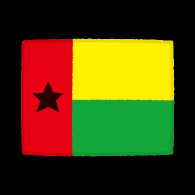 国旗のイラスト(ギニアビサウ共和国)(2カット)