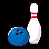 ボウリングのイラスト(ボールとピン)