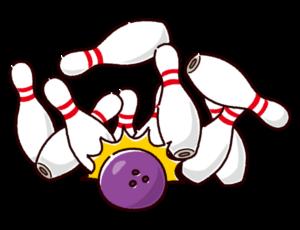ボウリングのイラスト(ストライク)
