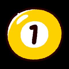 ビリヤードのイラスト(ボール1)