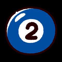 ビリヤードのイラスト(ボール2)