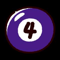 ビリヤードのイラスト(ボール4)