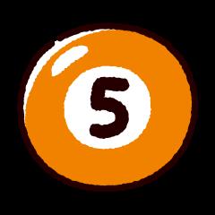 ビリヤードのイラスト(ボール5)