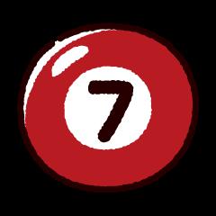 ビリヤードのイラスト(ボール7)