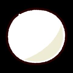 ビリヤードのイラスト(ボール白)