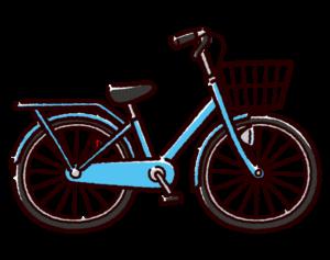 自転車のイラスト(シティサイクル・ママチャリ)