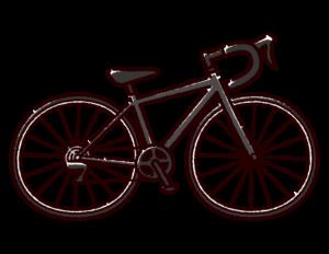 自転車のイラスト(ロードバイク)