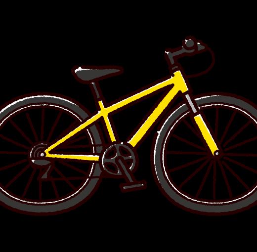 自転車のイラスト(マウンテンバイク)(4カラー)