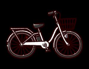 自転車のイラスト(電動アシスト)