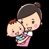 保育士のイラスト(抱っこ・女性)