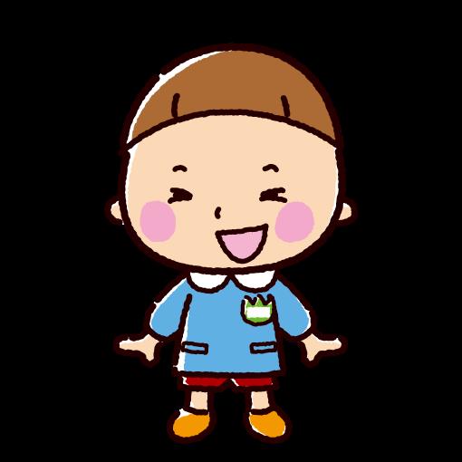 園児のイラスト(保育園/幼稚園・男の子)(2カット)