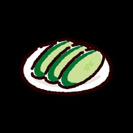 漬物のイラスト(きゅうり漬け)