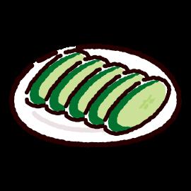 漬物のイラスト(きゅうり漬け)(2カット)