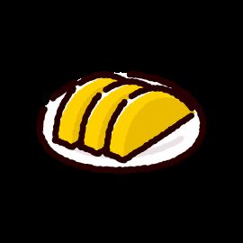 漬物のイラスト(沢庵漬け)(2カット)