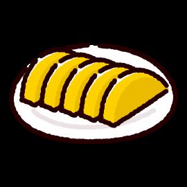 漬物のイラスト(沢庵漬け)