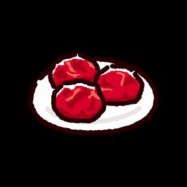 漬物のイラスト(梅干し)(2カラー)