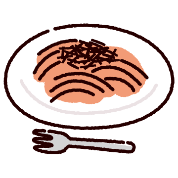 たらこパスタのイラスト(スパゲティ)