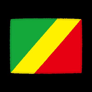 国旗のイラスト(コンゴ共和国)(2カット)