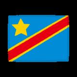 国旗のイラスト(コンゴ民主共和国)