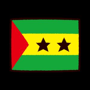 国旗のイラスト(サントメ・プリンシペ民主共和国)