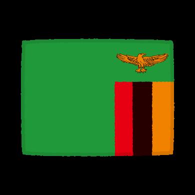 国旗のイラスト(ザンビア共和国)(2カット)