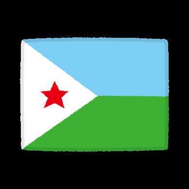 国旗のイラスト(ジブチ共和国)(2カット)