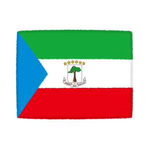 国旗のイラスト(赤道ギニア共和国)