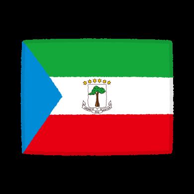 国旗のイラスト(赤道ギニア共和国)(2カット)