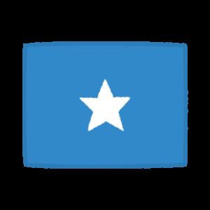 国旗のイラスト(ソマリア連邦共和国)