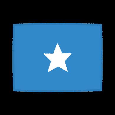 国旗のイラスト(ソマリア連邦共和国)(2カット)