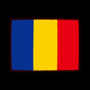 国旗のイラスト(チャド共和国)