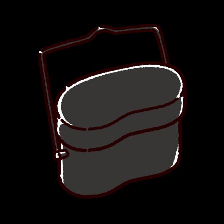 飯盒のイラスト(キャンプグッズ)