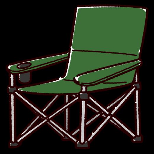 キャンプチェアのイラスト(アウトドアチェア)(3カラー)