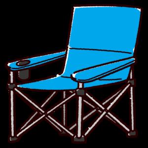 キャンプチェアのイラスト(アウトドアチェア)
