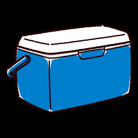 クーラーボックスのイラスト(アウトドア用品)(3カラー)