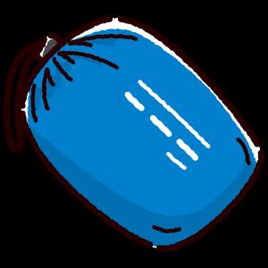 寝袋のイラスト(シュラフ/収納時)